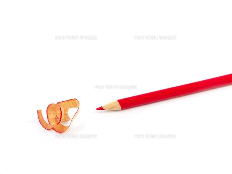 赤鉛筆と削りかすの素材 [FYI00269004]