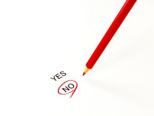 noに丸印と赤鉛筆の素材 [FYI00269016]
