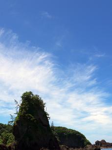 巌門鷹の巣岩の写真素材 [FYI00269053]