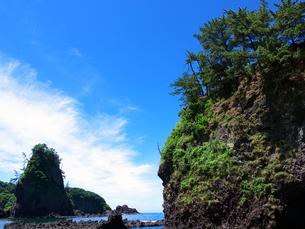 能登金剛巌門と鷹の巣岩の写真素材 [FYI00269068]