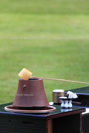 茶釜と柄杓の素材 [FYI00269159]