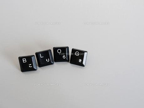 キーボード部品で作ったブログという文字の写真素材 [FYI00269161]