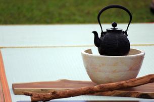 茶会の鉄瓶の写真素材 [FYI00269167]