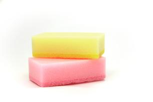 食器洗い用のスポンジの写真素材 [FYI00269199]