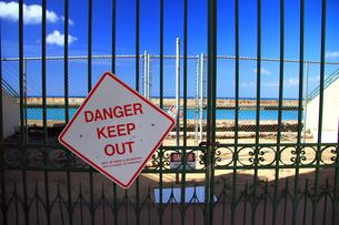 立入禁止の柵の写真素材 [FYI00269427]