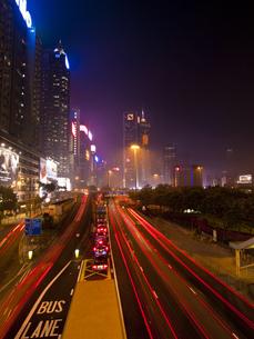 香港の夜景の写真素材 [FYI00269763]