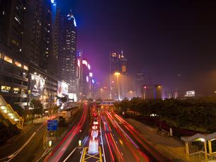 香港の夜景の写真素材 [FYI00269767]