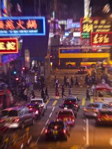 香港の繁華街の写真素材 [FYI00269778]
