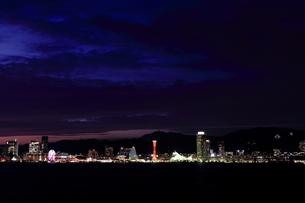 神戸港の夜景の写真素材 [FYI00269845]