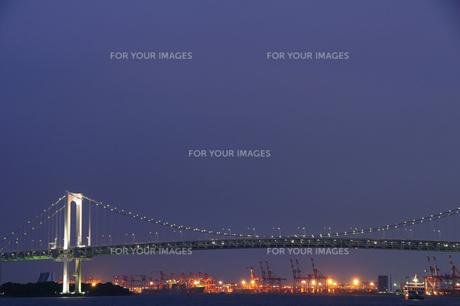 竹芝桟橋からの夜景の写真素材 [FYI00270217]