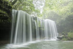 霧の中の鍋ヶ滝の写真素材 [FYI00270861]