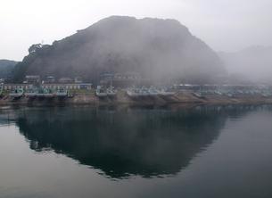 もやにかすむ外房の漁港の写真素材 [FYI00271171]