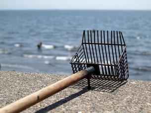 潮干狩りで白蛤を採る道具の写真素材 [FYI00271265]