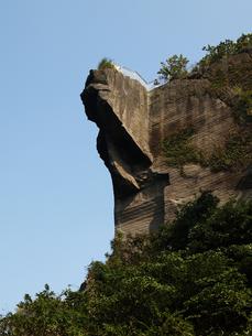 千葉県鋸山の地獄のぞきの写真素材 [FYI00271340]