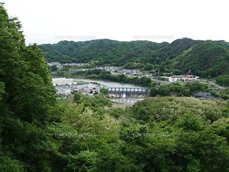 小諸城址から千曲川を俯瞰の写真素材 [FYI00271357]