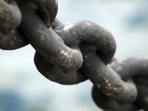 船の繋留用鎖の写真素材 [FYI00271381]