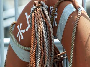 船の救助用ブイの写真素材 [FYI00271395]