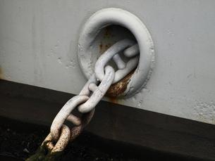 船のアンカーの鎖の素材 [FYI00271400]