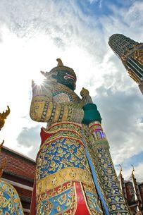 寺院の守護神の写真素材 [FYI00271559]