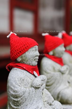 冬の地蔵 高尾山の写真素材 [FYI00271572]