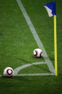 コーナーポストとサッカーボールの素材 [FYI00271694]