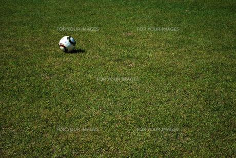 サッカーボールと芝の写真素材 [FYI00271710]