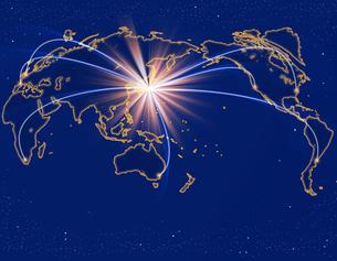 宇宙から見たビジネス世界の写真素材 [FYI00273646]