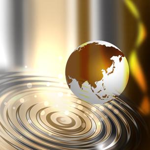 水面と地球の写真素材 [FYI00273661]