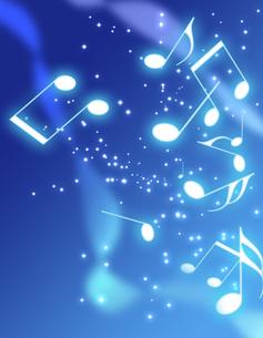 夜空と音楽の写真素材 [FYI00273666]