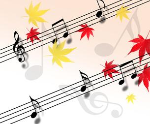 紅葉と音楽の写真素材 [FYI00273719]