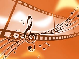 音楽とフィルムの写真素材 [FYI00273732]