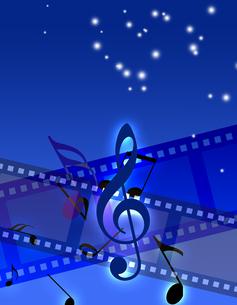 フィルムと音楽の写真素材 [FYI00273739]