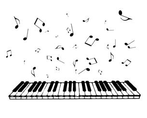 ピアノの鍵盤の写真素材 [FYI00273760]