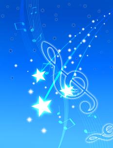夜空と音楽の写真素材 [FYI00273771]