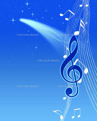 夜空と音楽の写真素材 [FYI00273795]