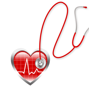 聴診器と心電図の素材 [FYI00273813]