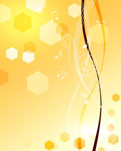 音楽と和柄の写真素材 [FYI00273822]