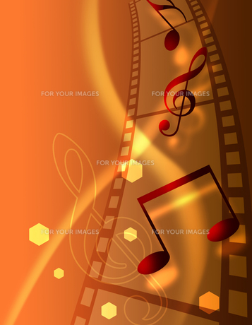 フィルムと音楽の写真素材 [FYI00273838]
