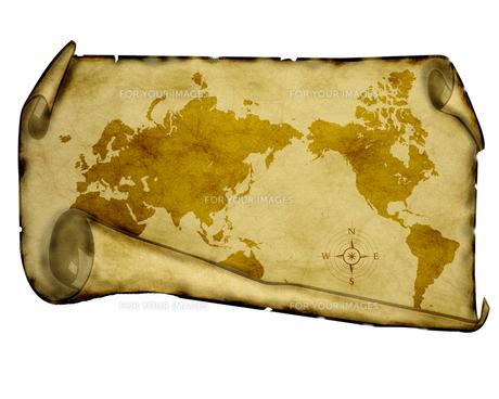 古い世界地図の写真素材 [FYI00274011]