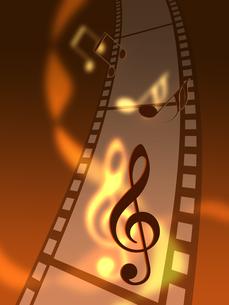 フィルムと音楽の写真素材 [FYI00274112]