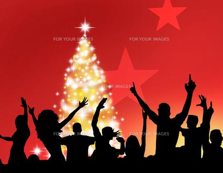 クリスマスパーティーの写真素材 [FYI00274201]