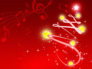 クリスマスツリーと音楽の写真素材 [FYI00274202]