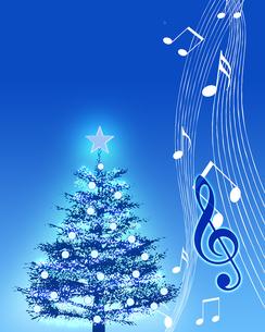 クリスマスと音楽の写真素材 [FYI00274207]