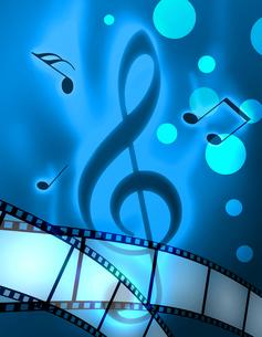 フィルムと音楽の写真素材 [FYI00274271]