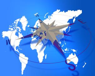 世界地図tコンパスの写真素材 [FYI00274306]