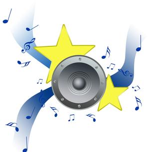 音楽を聴くの写真素材 [FYI00274349]