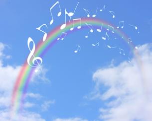 青空と音楽の写真素材 [FYI00274380]