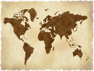 古い世界地図の写真素材 [FYI00274431]