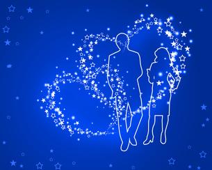 星になったカップルの写真素材 [FYI00274522]