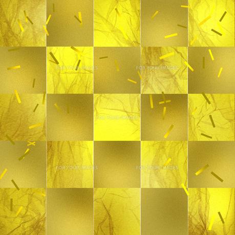 ゴールドな市松模様の写真素材 [FYI00274543]